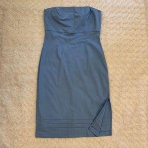 Pretty Blue Express Strapless Dress
